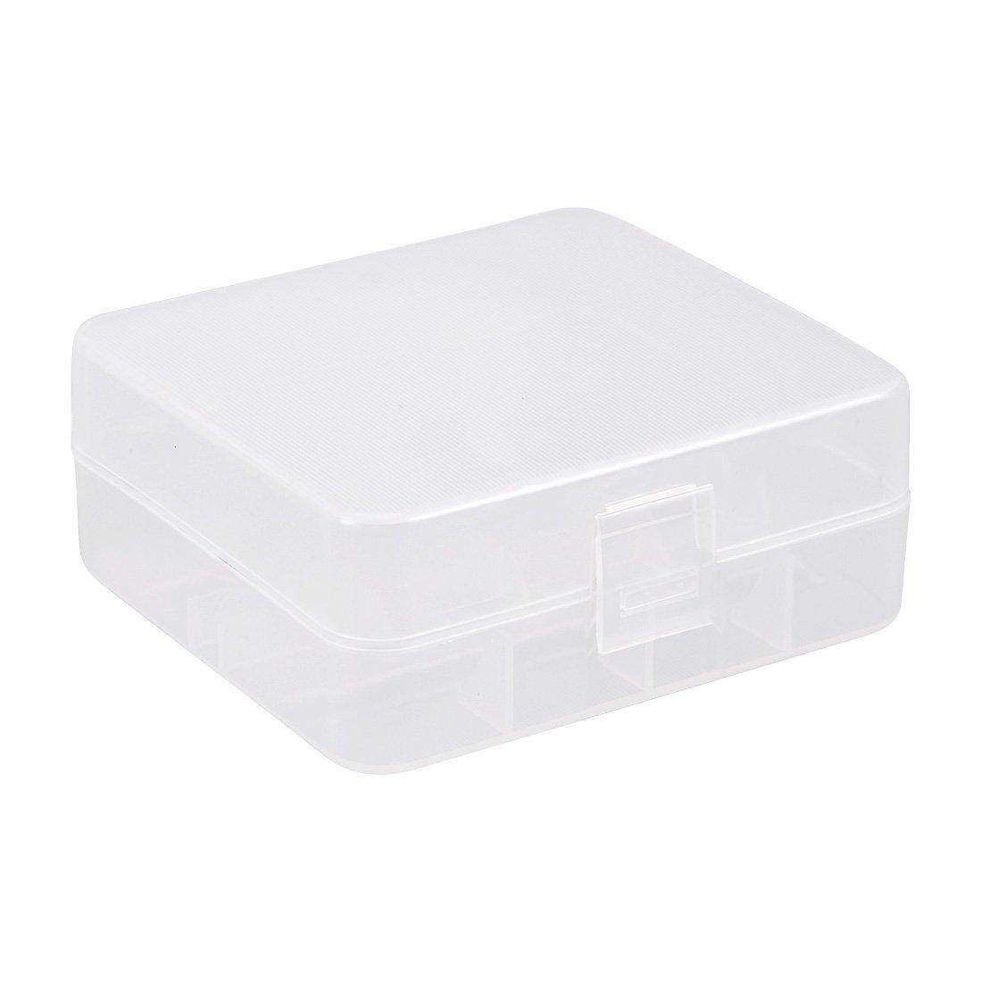 sourcingmap R/écipient en Plastique Transparent bo/îte de Stockage Support de Cas dorganisateur pour Batterie 26650