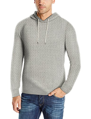 Cable Knit Henley Sweater (UNIONBAY Men's Drawcord Henley Sweater Hoodie, Airfoil, X-Large)