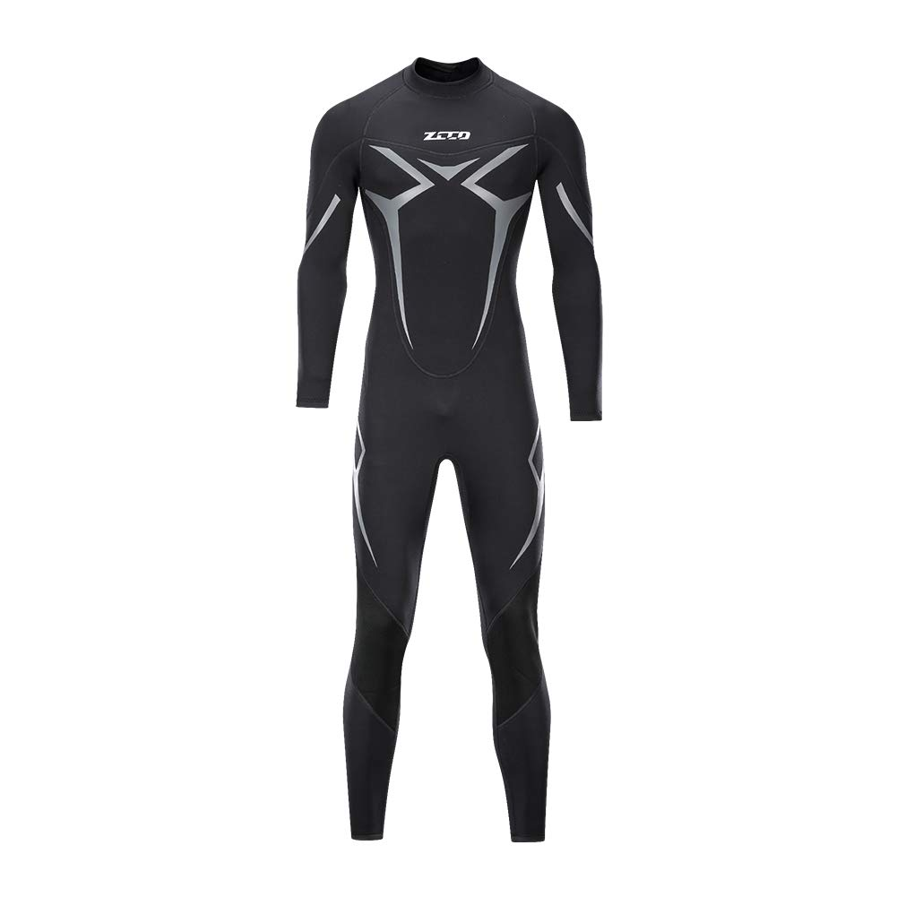 ZCCO Wetsuits Men's 3mm Premium Neoprene Full Sleeve Dive Skin for Spearfishing,Snorkeling, Surfing,Canoeing,Scuba Diving Wet Suits (Black, XS) by ZCCO