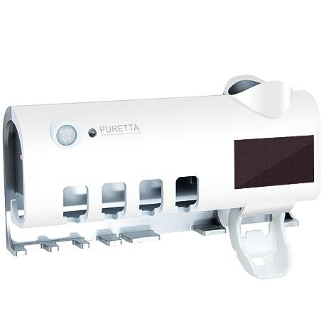 Esterilizador de Pared Multifuncional Puretta con Dispensador de Crema dental Esterilizador UV con Cepillo de Dientes