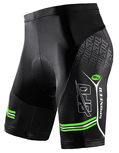sponeed Men's Bike Shorts With Padding Bottoms Bicycle Wear