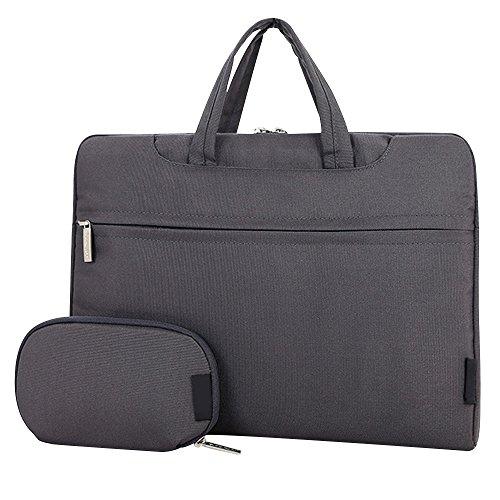 Cuitan 13 13.3 Zoll Wasserdicht Nylon Notebooktasche für Apple MacBook Pro / Apple MacBook Air / Acer Aspire ES1-311 / Asus Zenbook UX305FA, Modisch Laptoptasche Laptophülle Tragetasche Aktentasche Schultertasche Umhängetasche Handtasche mit Power Tasche und Schulter Strap für 13 13.3 Zoll Notebook Ultrabook - Grau