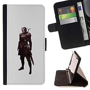 - Queen Pattern FOR Samsung Galaxy Note 4 IV /La identificaci????n del cr????dito ranuras para tarjetas tir????n de la caja Cartera de cuero cubie - swordsman pc game elf warrior