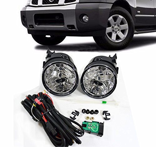 Remarkable Power Fog Lights Bumper Lamps Kit OE Clear For 2004 2005 2006 2007 Nissan Armada Titan FL7060 (Oe Replacement Fog Lamp)