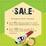 BoxLegend Lemon Squeezer, Premium Quality Stainless Steel Press Lemon Lime Squeezer Citrus Manual Juicer- Red