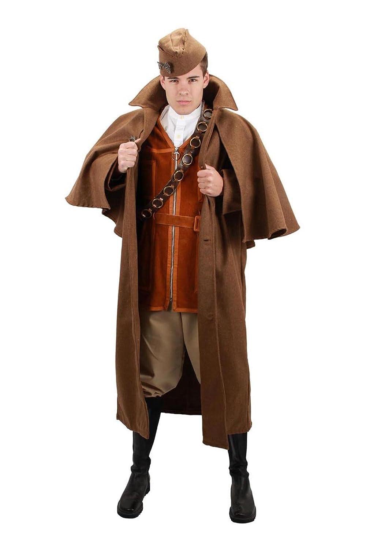 Victorian Men's Costumes: Mad Hatter, Rhet Butler, Willy Wonka elope Brown Inverness Jacket $59.95 AT vintagedancer.com