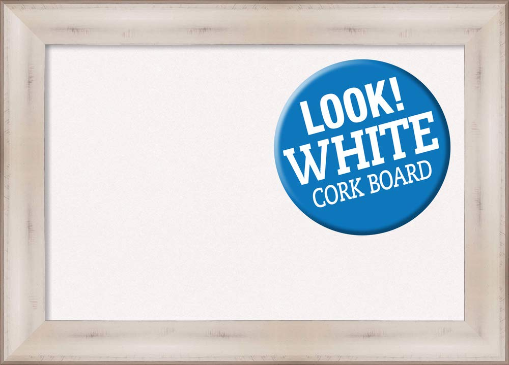 Amanti Art Cork Allure White Framed Bulletin Boards, 29 x 21,
