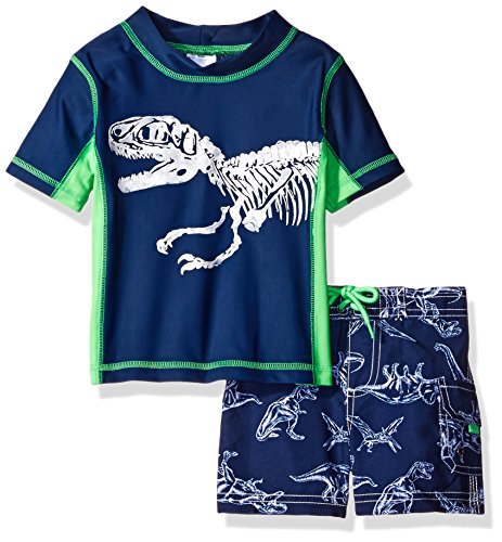 Carter's Baby Boys' Dinosaur Short Sleeve Rash Guard Set, Navy, 12 Months for $<!--$29.95-->