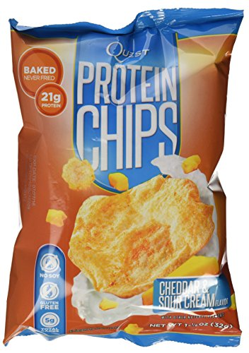 Quest Nutrition Protein Chips, Cheddar & Sour Cream, Pack of 8