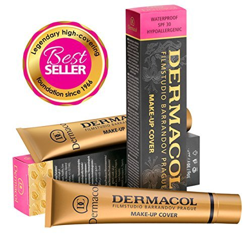 Dermacol Make-up Cover - Waterproof Hypoallergenic Foundation 30g 100% Original Guaranteed from Authorized Stockists (212) (100 Percent Foundation)