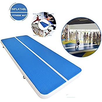 Inflatable Gym Mat Review Tumble Track Gymnastics Trampolines