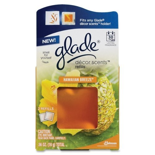 Wholesale CASE of 25 - Diversey Glade Hawaiian Decor Scent Refills-Decor Scents Refill, 2/PK, Hawaiian Breeze by dRA