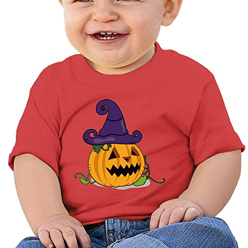 (Halloween Pumpkin Cool Graphic Baby O-neck Short Sleeve Cotton Red Size 18)