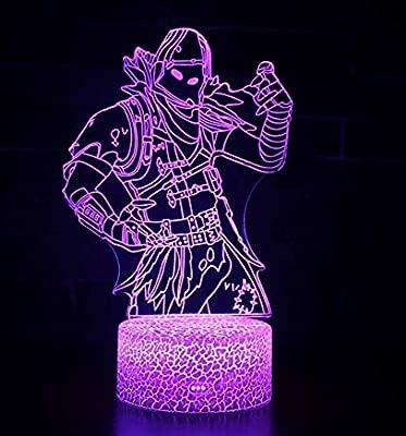 Ilusión 3D Luz de noche Lámpara de mesa de escritorio LED Lámpara ...