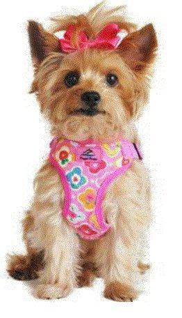 Doggie Design Soft Lightweight Wrap and Snap Choke Free Dog Harness - Maui Pink (M)