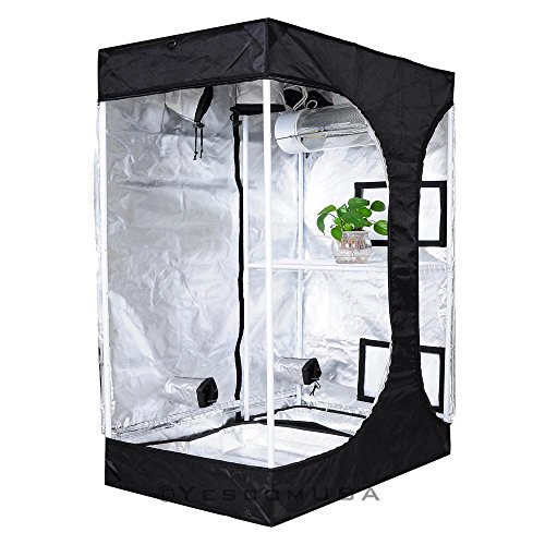 517H4smS8CL - 2-in-1 100% Reflective Mylar Hydroponics Indoor Grow Tent Propagation and Flower
