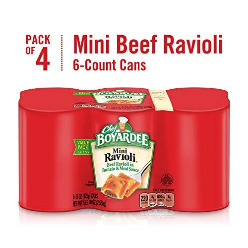 Chef Boyardee Mini Beef Ravioli, 15 oz Cans (Pack of - Ravioli Mini Chef Boyardee