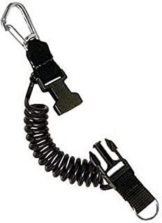 product image for Princeton Tec Coil Lanyard with Stainless Steel Carabineer Black Lanyard