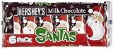 Hershey's Milk Chocolate Santa Bar, 6-Count of 1.2-Ounce bars, 7.2-Ounce Package