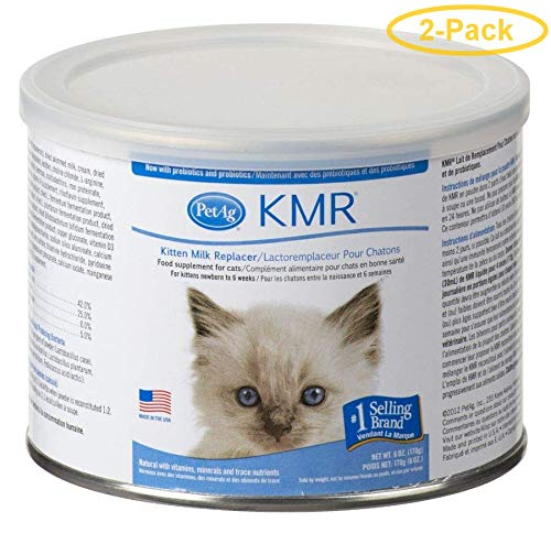 Pet Ag KMR Powder Kitten Milk Replacer 6 oz - Pack of 2 by Pet Ag