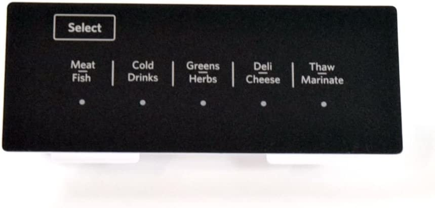 Whirlpool W10769076 Refrigerator Temperature-Controlled Drawer User Interface Assembly Genuine Original Equipment Manufacturer (OEM) Part