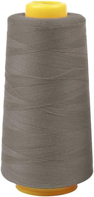 Bobina de hilo de coser de poli/éster de 3000 yardas multifuncional para m/áquinas de coser Serger Single Needle poli/éster Length: 3000Yards amarillo