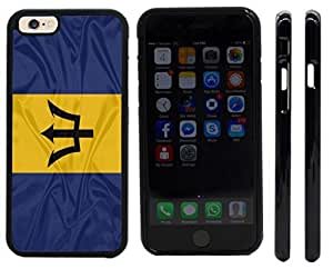 Rikki KnightTM Barbados Flag Design iPhone 6 Case Cover (Black Rubber with front bumper protection) for Apple iPhone 6