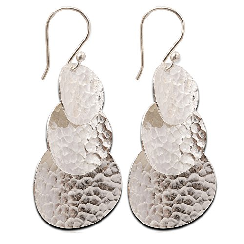 - Dangle Hammered Karen Hill Tribe Design Earring Pure Silver
