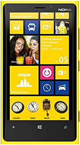Nokia Lumia 920 32GB Unlocked GSM 4G LTE Windows 8 OS Smartphone - Yellow - AT&T - No Warranty (Nokia Lumia 920 Straight Talk)