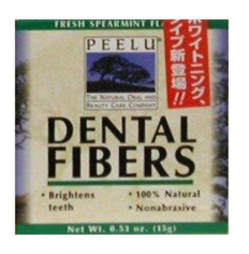 Dental Fibers Tooth Powder - Peelu Dental Fibers Tooth Powder, Spearmint, 0.53 Ounce