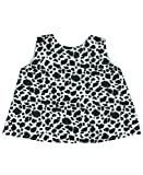 RuffleButts Infant/Toddler Girls Open Back Print Swing Top - Cow Print - 12-18m