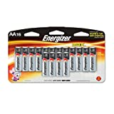 Eveready Battery Co Inc Energizer Alkaline Battery, AA, 16/PK, BKSR