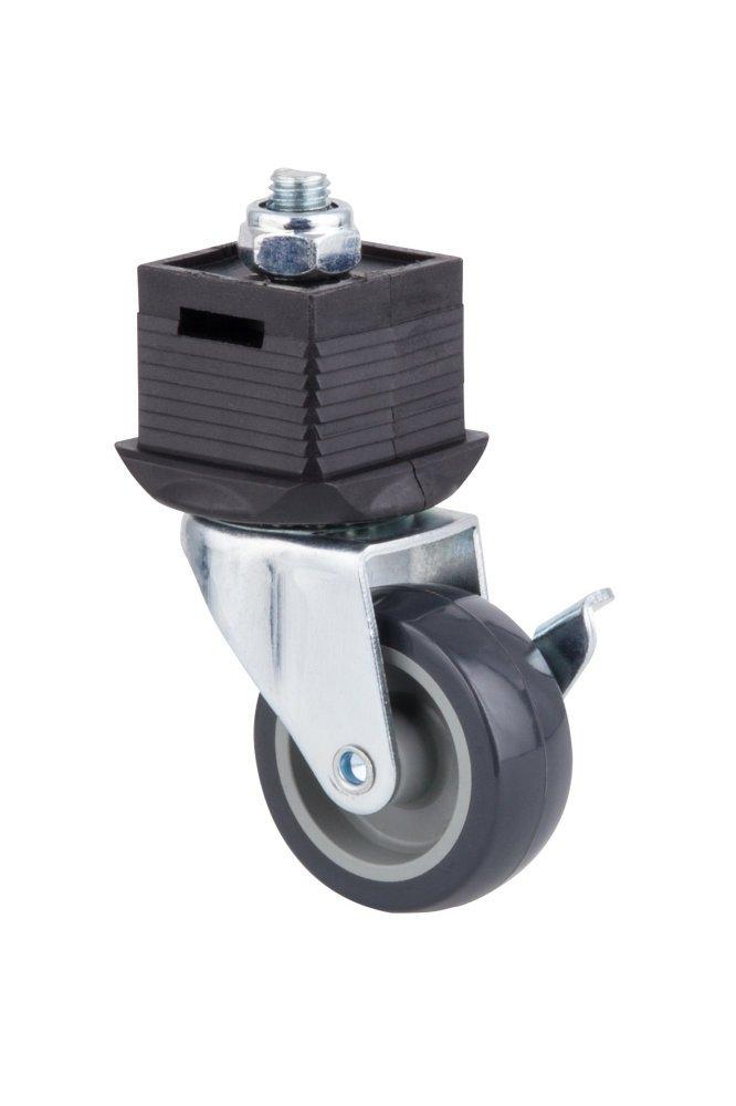 Pata con rueda y freno giratoria WOLFCRAFT 6066000