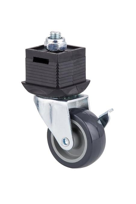 Wolfcraft 6066000 - Pata giratoria con rueda y freno