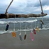 Quartz Crystal Whimsical Sun Catcher Hanging Driftwood Mobile Upcycled Art Bohemian Window Beach Wedding Girls Room