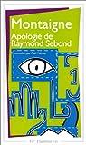 Apologie de Raymond Sebond par Montaigne