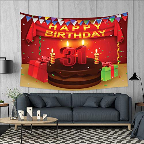 smallbeefly 31st Birthday Tapestry Table Cover Bedspread Bea