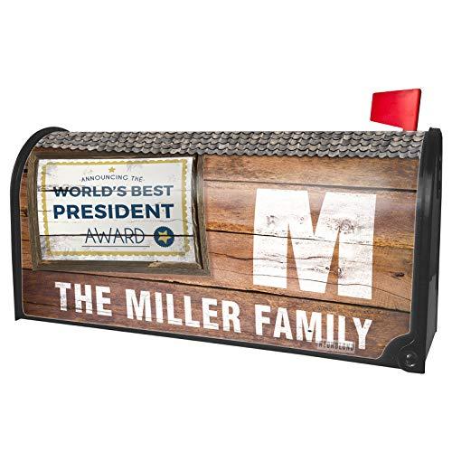 (NEONBLOND Custom Mailbox Cover Worlds Best President Certificate Award)