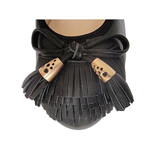 a sinistra acquisto Determina per premi immagine pelle selvagge costose casual favore e per donne in Nero piede Buon mocassini lunghezza non scarpe Comodi moda le RHUqw4FzI