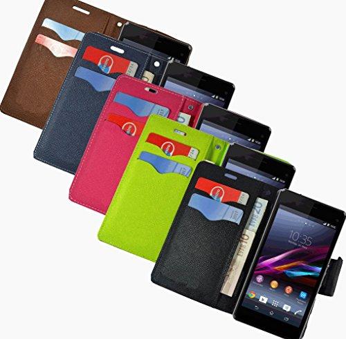 Für Apple iPhone 5 5s Handy Book Style Tasche Wallet Case Flipcover Schutz Hülle Klapp Etui Kartenfächer Magnetverschluss Drip Case Schwarz Braun