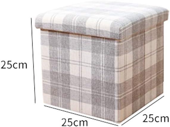Forte capacit/é de Charge Durable Mode BAOFUR Tabouret de Rangement Mousse /à m/émoire /élastique Chaise de Rangement Tissu imprim/é en Coton Tabouret Pouf avec Coffre de Rangement