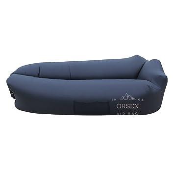ORSEN Aufblasbare Lazy Lounger Air Sofa Bed Luft Couch Sitzsack Liege,  Tragbar Air Betten Schlafen