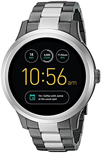 Fossil Q Founder Gen 1 Touchscreen Two-Tone Gunmetal and Stainless Steel Smartwatch