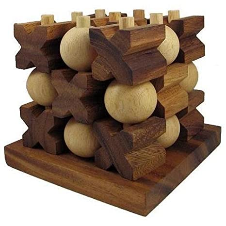 Tic Tac Toe 3d Huge Strategy Wooden Game