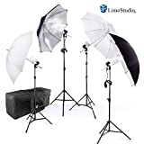 #7: Photography Photo Portrait Studio 800W LED Bulbs Day Light Black and White Umbrella Continuous Lighting Kit by LimoStudio, AGG2754