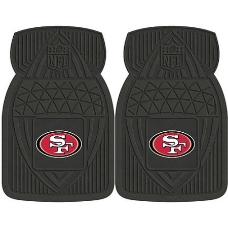 NFL 4-Piece Front #36572639 and Rear #19888905 Heavy-Duty Vinyl Car Mat Set, San Francisco 49ers by Sports Licensing Solutions LLC
