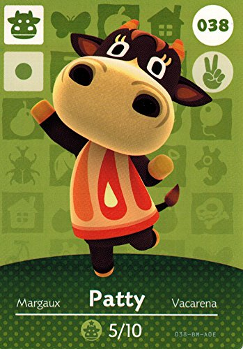 Animal Crossing Happy Home Designer Amiibo Card Patty 038/100