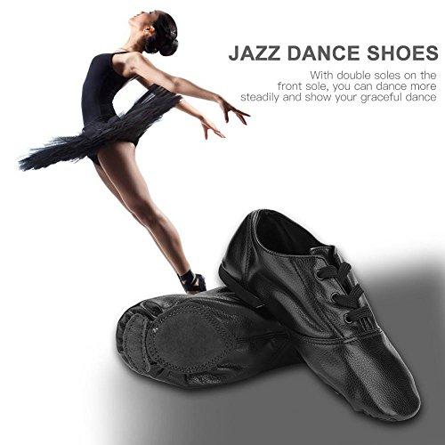 Baile Corte 43 Zapatillas Jazz De Baile Bajo Cuero Para 42 Filfeel Adultos R0ZOxqpp