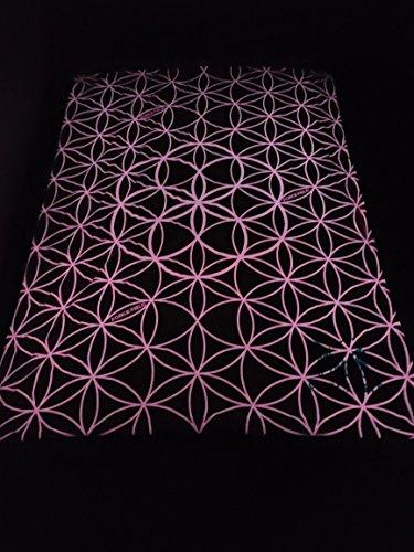 Field Blend - Force Field Cloak Glow in The Dark Blanket - Night Light for Kids (Pink Flower)