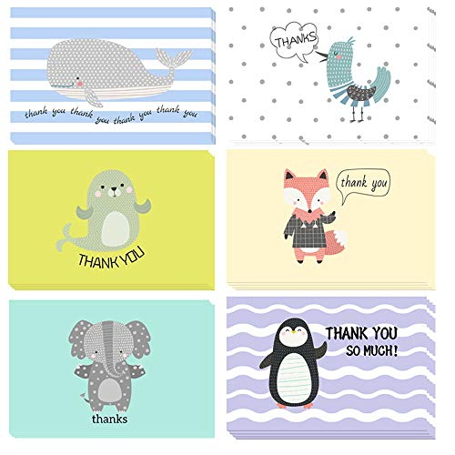 50 Discount On Thank You Cards Animal Thank You Notes Thank You